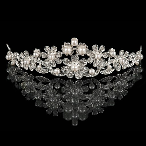 Pearls Alloy Bridal Tiara
