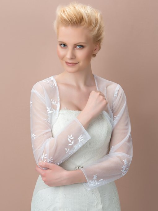 Lace Tulle Bridal Jacket