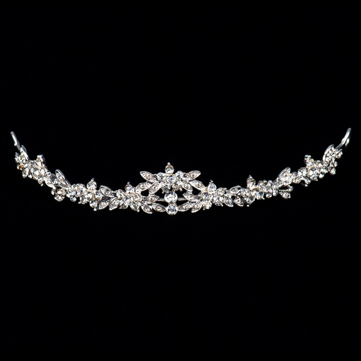 Rhinestone Flower Wedding Bridal Tiara