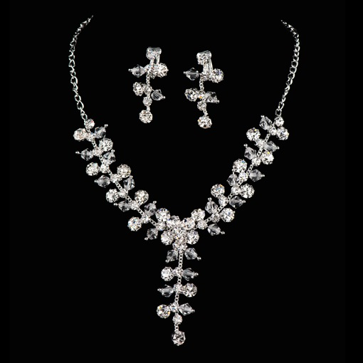 Rhinestone Wedding Jewelry Set