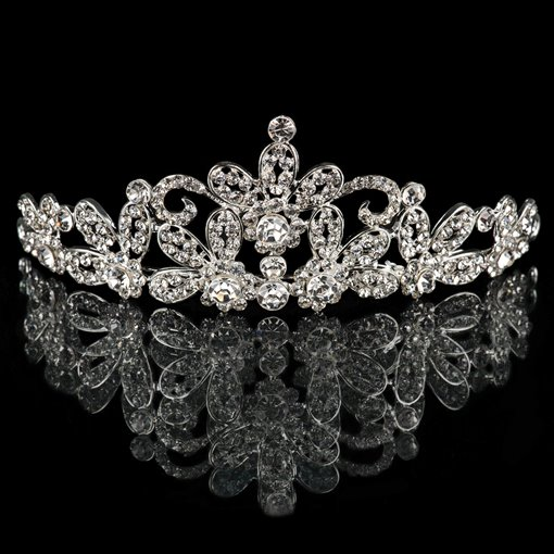 Celebrity Style Alloy with Rhinestones Bridal Tiara