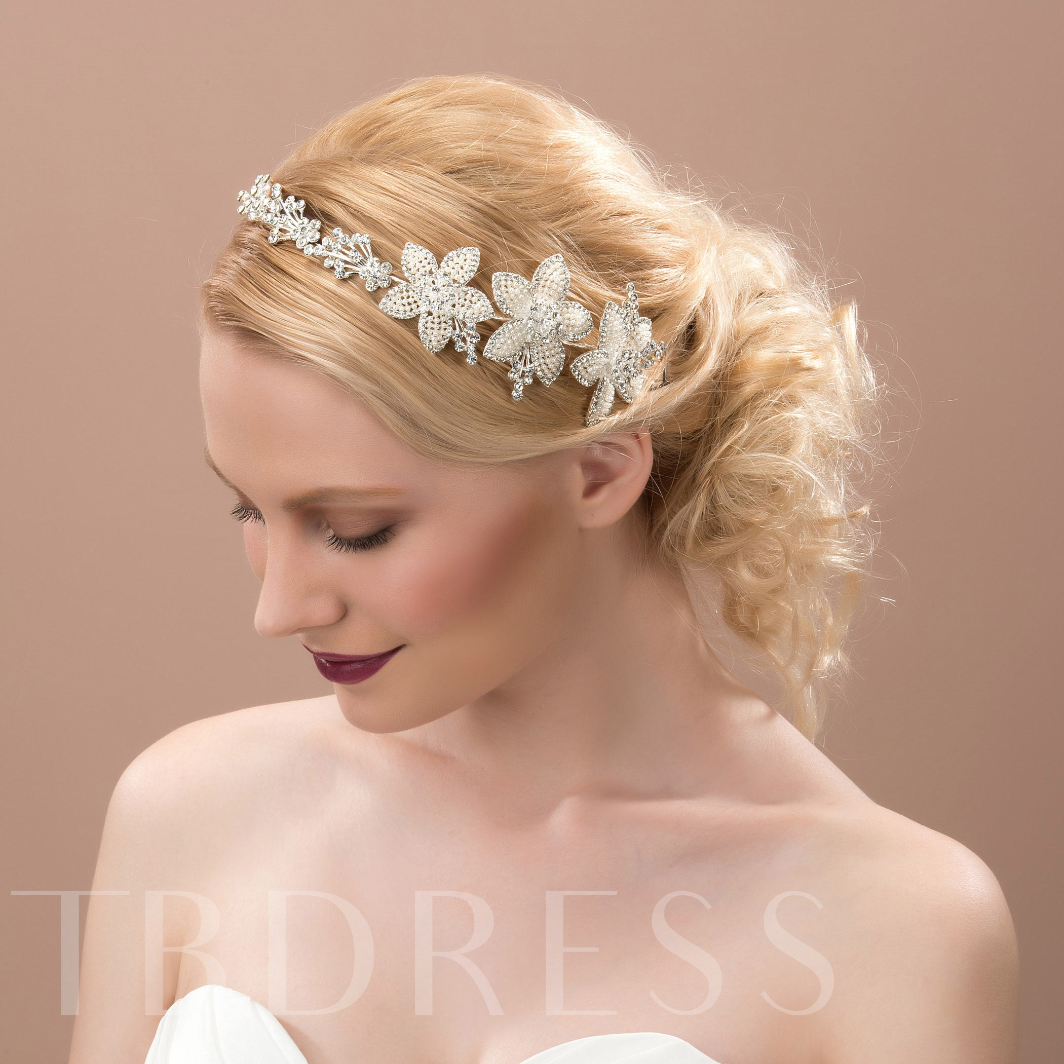 Pearls Rhinestone Hair Flowers