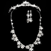 Wedding Bridal Jewelry Set (Including Tiara,Necklace and Earrings)