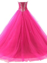 Sweetheart Beaded Sequins Lace-Up Quinceanera Dress