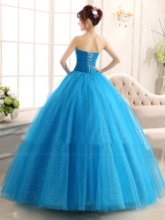 Sweetheart Ruched Ball Gown Beadings Quinceanera Dress