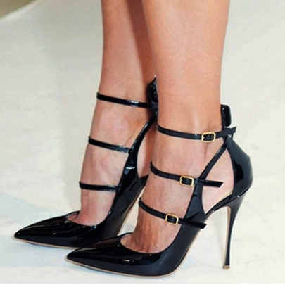 Straps Buckle High Heel Women's Sandals