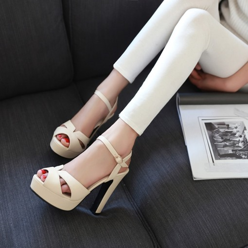 Ankle Strap Peep Toe Women's Sandals