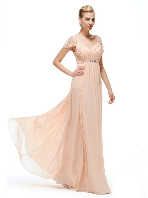 Cap Sleeve Ruched Sweetheart Mother of the Bride Dress