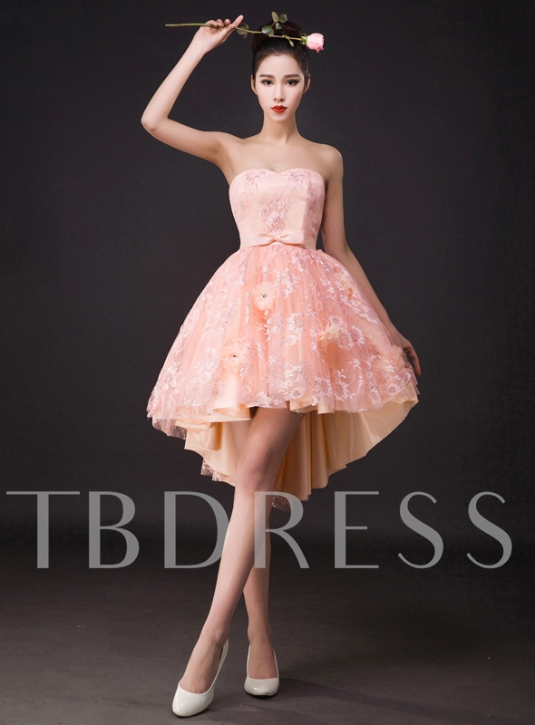 A-Line Sweetheart Lace Homecoming Dress