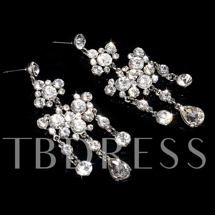 Alloy with Rhinestone Bridal Jewelry Set (Including Necklace and Earrings)