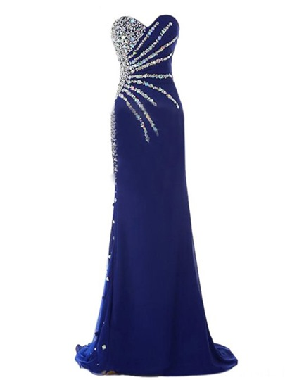 Mermaid Sweetheart Neckline Beadings Evening Dress