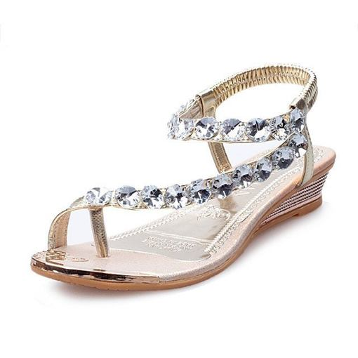 Thong Slip-On Ankle Strap Plain Women's Sandals