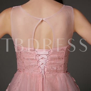 A-Line V-Neck Appliques Rhinestone Mini Homecoming Dress