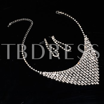 Alloy with Wedding Jewelry Set (Including Tiara, Necklace and Earrings)