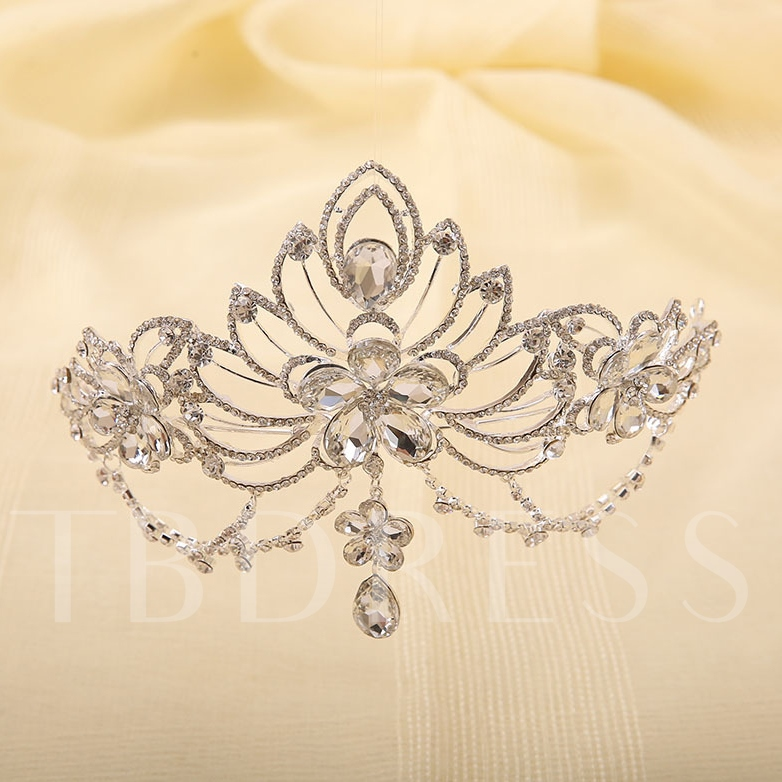 Floral Shaped Alloy with Rhinestone Wedding Tiaras