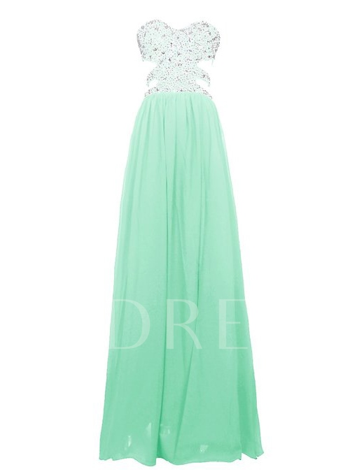 Sweetheart Sequins Beading Mint Prom Dress
