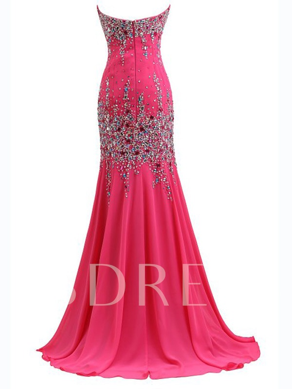 Sweetheart Rhinestone Beading Mermaid Evening Dress