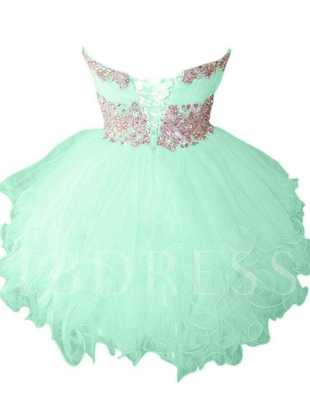 Ball Gown Strapless Rhinestone Short Homecoming Dress