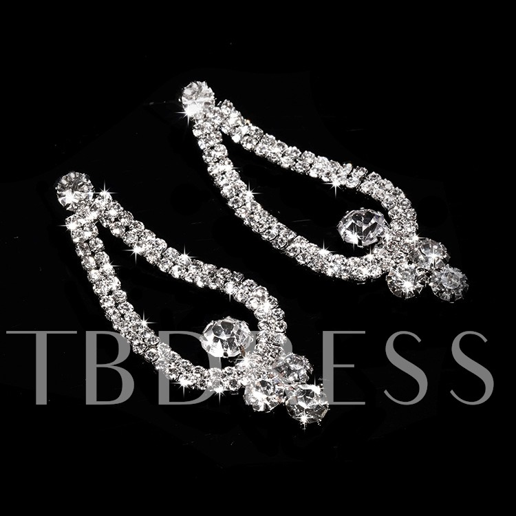 Clear Alloy with Wedding Jewelry Set (Including Tiara,Necklace and Earrings)