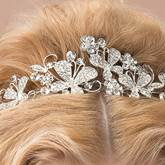 Butterflies Shaped Rhinestone Wedding Tiara Hair Jewelry