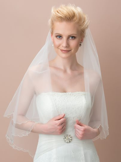 Simple Elbow Edge Bridal Wedding Veil