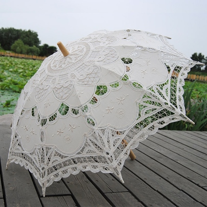 Lace Pattern Wedding Bridal Umbrella