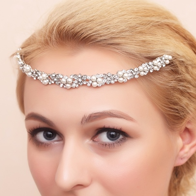 Pearls Hair Jewelry & Bridal Headband & Wedding Tiara