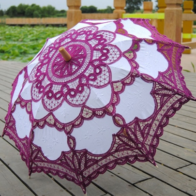 Floral Lace Wedding Bridal Umbrella
