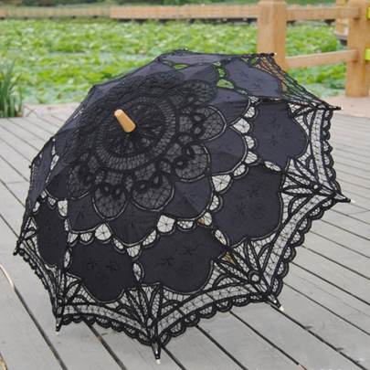 Black Lace Wedding Bridal Sunshade