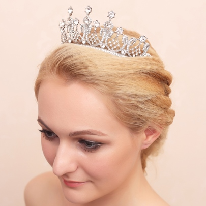 White Rhinestone Alloy Bridal Wedding Tiara