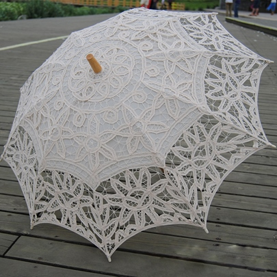 Beige Lace Hand-made Sunshade