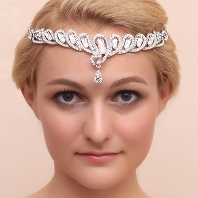 Strips Alloy and Rhinestone Tiara & Headpieces
