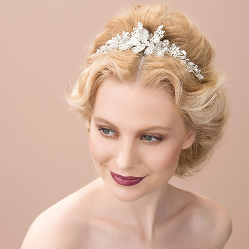 Sweetheart Shaped Alloy with Rhinestone Wedding Tiaras &Headband