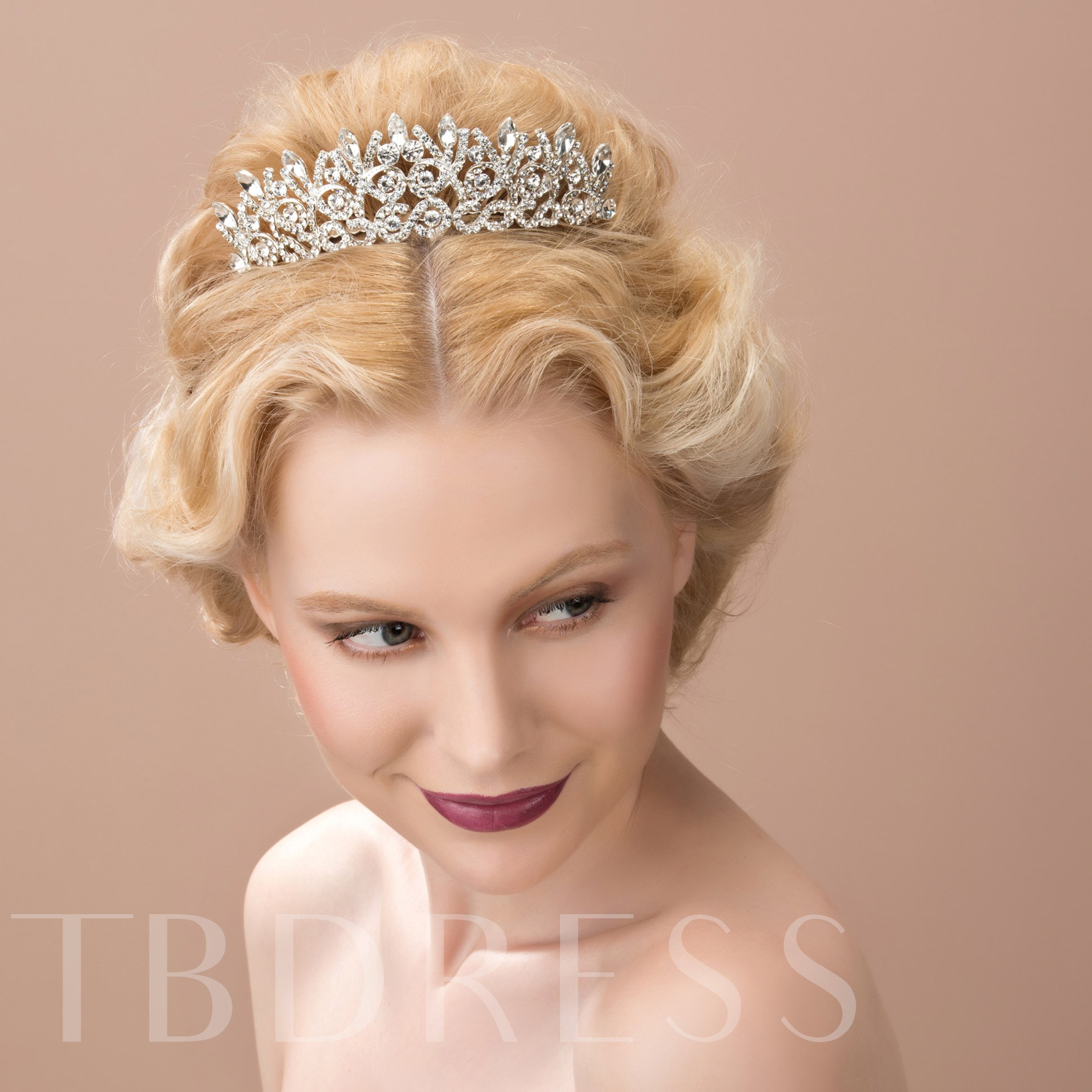 Celebrity Alloy with Rhinestone Bridal Wedding Tiara