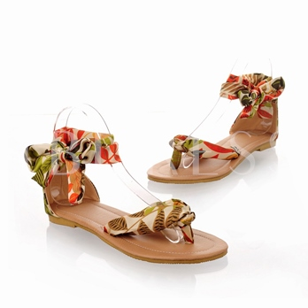 Thong Ankle Straps Women's Flat Sandals