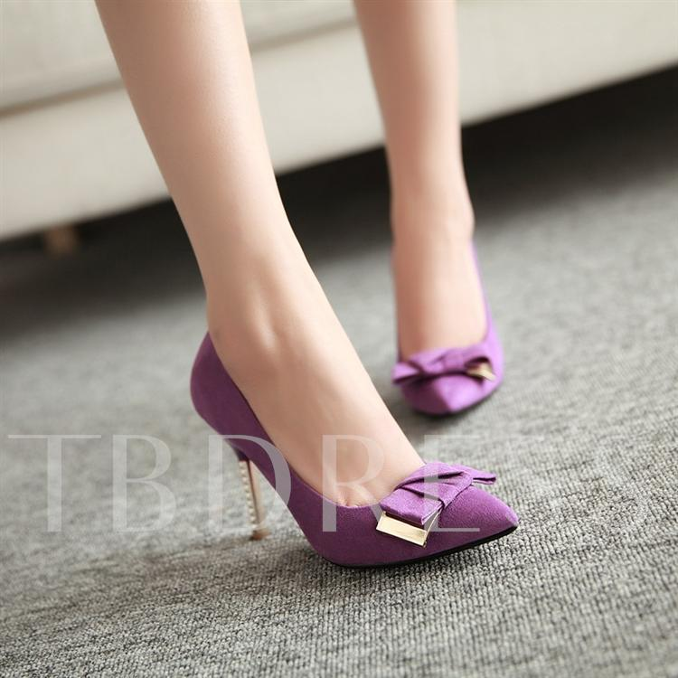 Bow Pointed Toe Women's Pumps