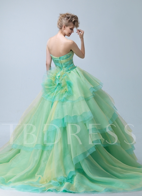 Strapless Colourful Flower(s) Quinceanera Dress