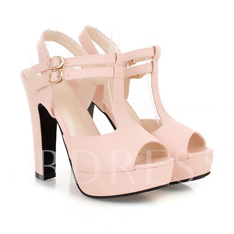 T-shaped Peep Toe Women's Sandals