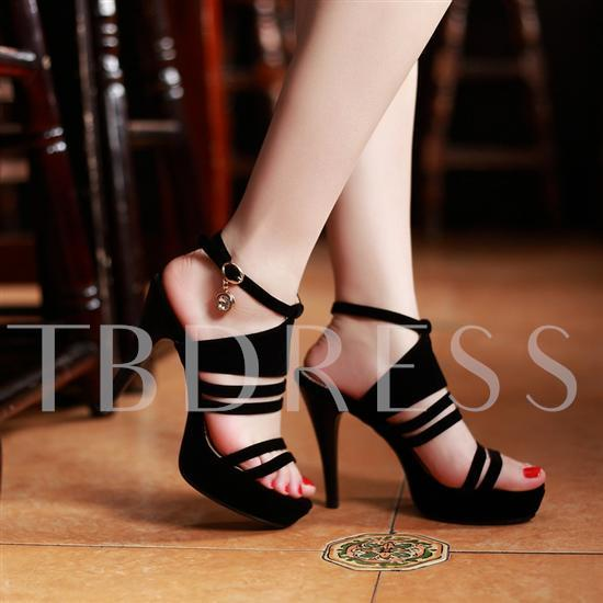 Open Toe Ankle Straps High Heel Women's Sandals