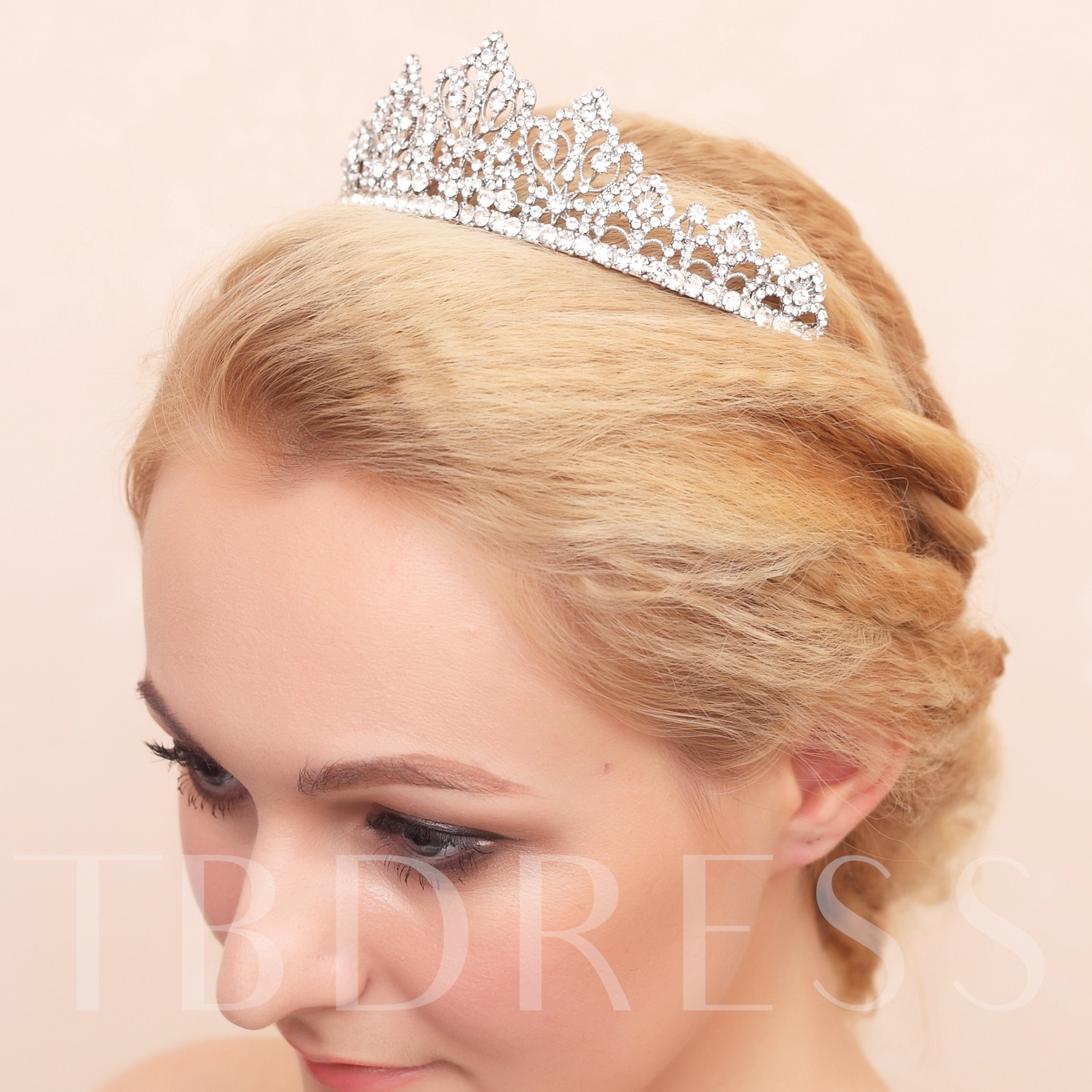 Celebrity Alloy with Star Shaped Rhinestone Wedding Bridal Tiara