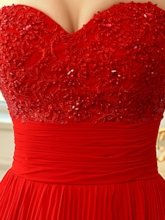 Sweetheart Neckline A-Line Ruched Prom Dress