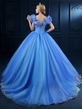 Off-the-Shoulder Ball Gown Butterfly Cinderella Dress