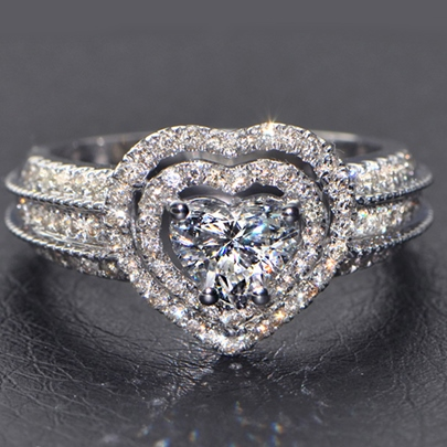 Love Luxury Simulation Diamante Ring