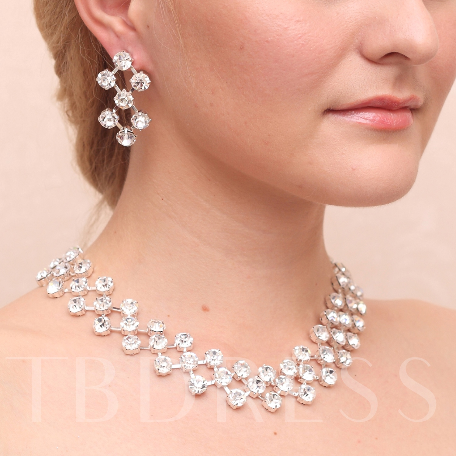 Rectangle Shaped Alloy With Rhinestone Wedding Bridal