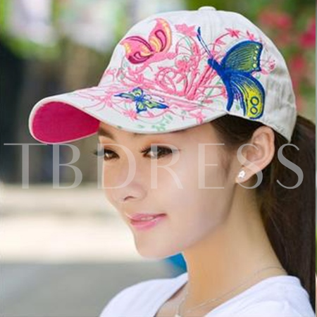 Butterfly Pattern Outdoor Flat Baseball Cap