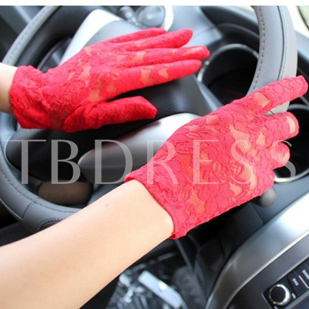 Lace Anti-skidding Sun Proof Women's Gloves