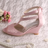 Ankle Straps Chunky Heels Open-Toe Wedding Shoes