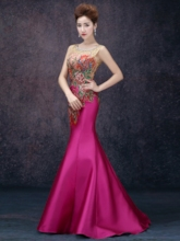Beading Embroidery Lace Mermaid Evening Dress