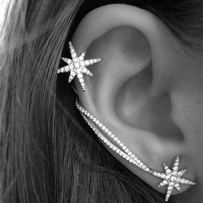Decorated Asymmetric Snowflake Women's Ear Cuff(Price for One Piece)