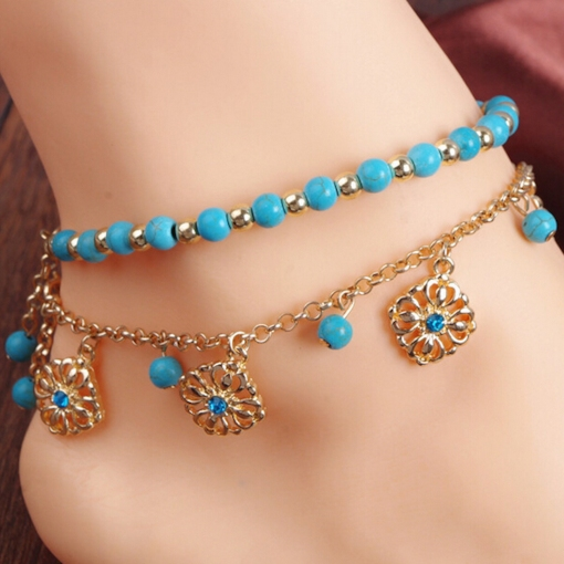 Beading Alloy Ball Chain Women's Anklet